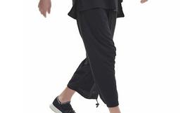 新品8折!Y-3直筒宽松裤脚抽绳简约男女棉质九分裤