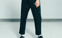 新品!TMCAZ后腰弹性带宽腿窄口工装长裤