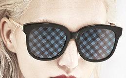 新品5.2折!川久保玲防紫外线格纹贴花魔幻太阳镜