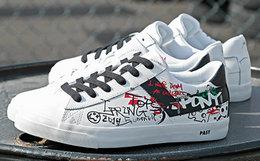 用券优惠!PONY×周笔畅×Lucia Liu联名款撞色鞋带涂鸦低帮板鞋