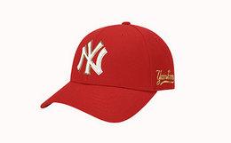 20元劵!MLB 加粗字母刺绣撞色男女街头风棒球帽弯檐帽