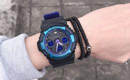 卡西欧 G-SHOCK 拼接撞色玻璃表盘男女霓虹复古手表