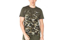 3.5折!BURANDO ENO个性迷彩撞色男圆领短袖T恤