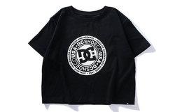 4.8折!DCSHOECOUSA 简约圆领logo短款女半袖T恤