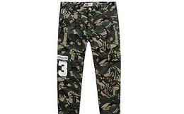 4.6折!APE安逸猿军绿色迷彩修身束脚长裤 AP27LKZK034