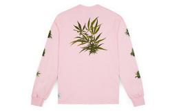 4折!美潮 HUF 热带植物男女情侣长袖T恤 两色可选