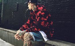 国潮VIVI CLIFF红迷彩防晒服冲锋衣超薄款外套男女同款