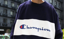Champion x FS联名款圆领套头拼色印花宽松男卫衣
