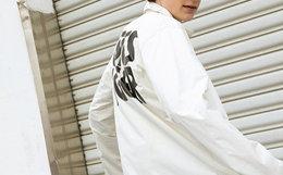 5.3折!ASICSTIGER 背后logo印花宽松男女教练夹克外套