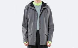 美潮 Rains Jacket 连帽系扣防水简约休闲风衣男女雨衣外套