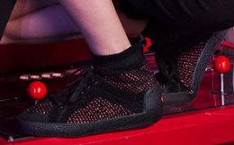 新品!ASH拼接撞色高帮袜套鞋女运动板鞋