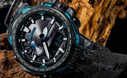 Casio户外登山电波太阳能多功能大表盘运动男手表