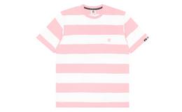 Aape 猿颜徽章贴布口袋撞色宽条纹潮流男短袖T恤