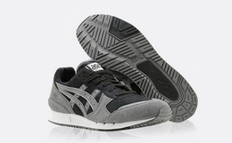 4折!ASICSTIGER磨砂皮拼接男女跑步鞋系带运动鞋