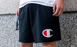 新品6.3折!美潮Champion大C刺绣运动短裤