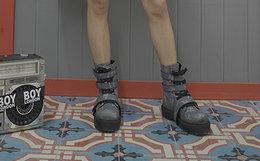 新品用劵!BOY LONDON X YRU联名温感变色高帮鞋