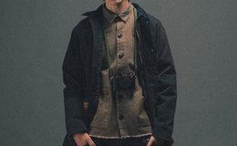 新品8折!DABOMB拼贴布多口袋工装男衬衫