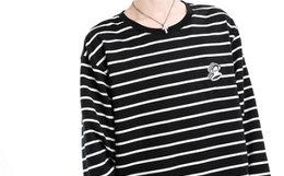 新品3.3折!Paul Frank/大嘴猴条纹宽松logo印花男卫衣
