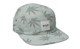 美潮HUF Plantlife麻叶印花五片平檐棒球帽