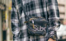 3.3折!SubcrewSub系列虎纹迷彩单肩包军事斜挎男包