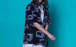 4折!JOKESTER复古图案印花嘻哈系扣短袖男女沙滩衬衫