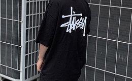 领劵优惠!美潮 Stussy 斯图西logo印花宽松短袖情侣T恤