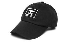 Boy London布标刺绣黑色弯檐棒球帽