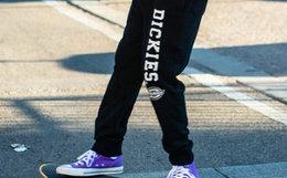 新品7折!Dickies直筒螺纹束脚口男卫裤全棉运动裤