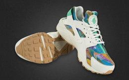 新品!Nike Air Huarache华莱士复古风异材拼接慢跑鞋