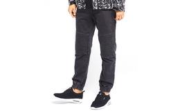 2折!dunkelvolk达克沃直筒凹凸条纹男束脚牛仔裤