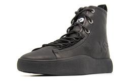 7折!Y-3圆头系带皮革高帮男女同款运动休闲鞋