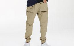 8.6折!ABSURD LOGIC 调节卡扣贴布立体口袋男束腿裤