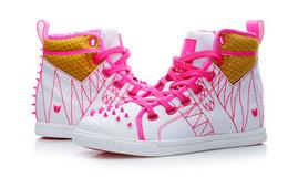 KRUZIN夏款高帮透气铆钉帆布鞋女板鞋