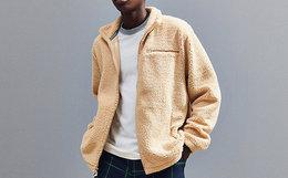 FILA+UO合作刺绣立领人造羊羔绒男女卫衣外套