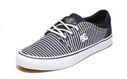 6.4折!DCSHOECOUSA系带撞色条纹帆布鞋男女滑板鞋