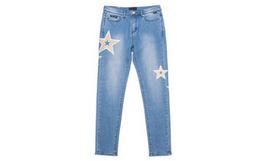 2折!HARDY HARDY直筒铆钉星星刺绣女牛仔长裤