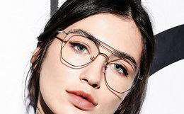 6折!川久保玲复古双梁眼镜架男女近视眼镜框