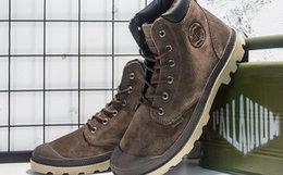 新品6折!PALLADIUM帕拉丁绒面系带高帮男马丁靴