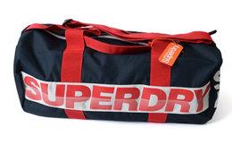 9折!英国Superdry蓝红拼色手提运动健身水桶包