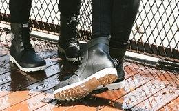 6.4折!Subtle X1系带中筒防水男女同款马丁雨靴