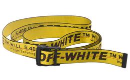 美潮OFF-WHITE 刺绣字母撞色卡扣多功能工业腰带