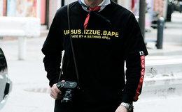 新品!URSUS BAPE × IZZUE联名字母猿人大将军T恤
