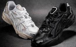 新品用劵优惠!Asics tiger皮革系带男女运动复古风跑鞋