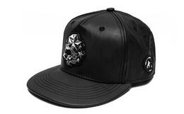 6.3折!boylondon金属logo皮革棒球帽平檐帽