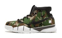 3折!Nike Kobe 1 Protro×Undefeated联名款迷彩高帮运动鞋