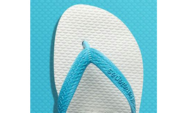 Havaianas经典限量宽带天蓝拼色人字拖鞋