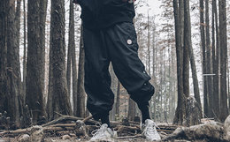 新品!易建联潮牌 US17侧缝四合扣嘻哈束脚裤男休闲裤