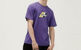 8折!MishkaNYC半眼球字母印花圆领男女嘻哈短袖T恤