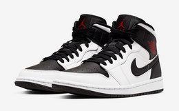 7.4折!Air Jordan 1 Mid 反转熊猫逆黑脚趾男女运动鞋