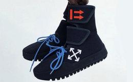 限量预售!美潮OFF-WHITE C/O VIRGIL ABLOH高帮镂空帆布鞋